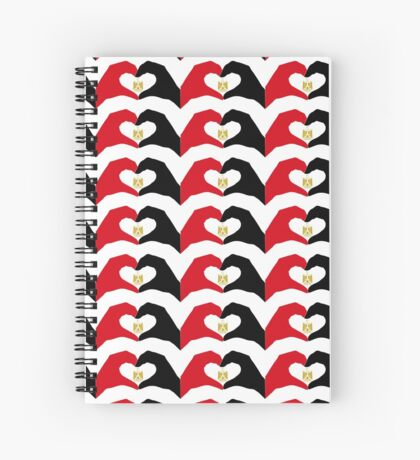 We Heart Egypt Patriot Flag Series  Spiral Notebook