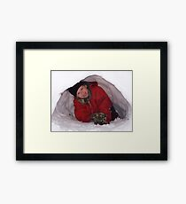 First Igloo Framed Print
