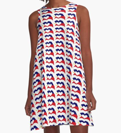 We Heart Philippines Patriot Series A-Line Dress