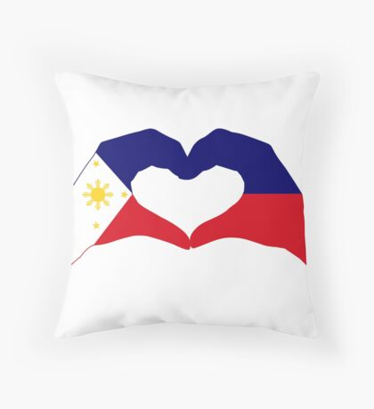 We Heart Philippines Patriot Series Throw Pillow