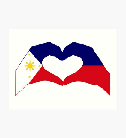We Heart Philippines Patriot Series Art Print