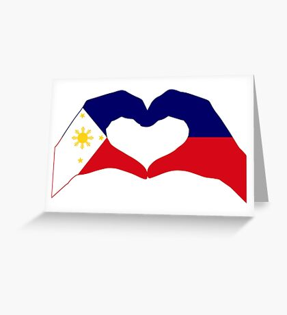 We Heart Philippines Patriot Series Greeting Card