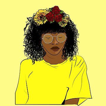 SunFlower . Black woman by Mariokao