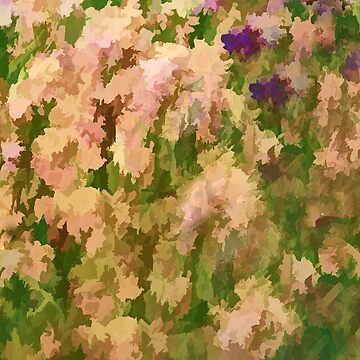 Garden Iris Abstract by Osso