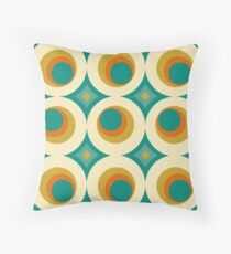 Mid-Century Modern Splash Throw Pillow