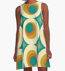 Mid-Century Modern Splash A-Linien Kleid