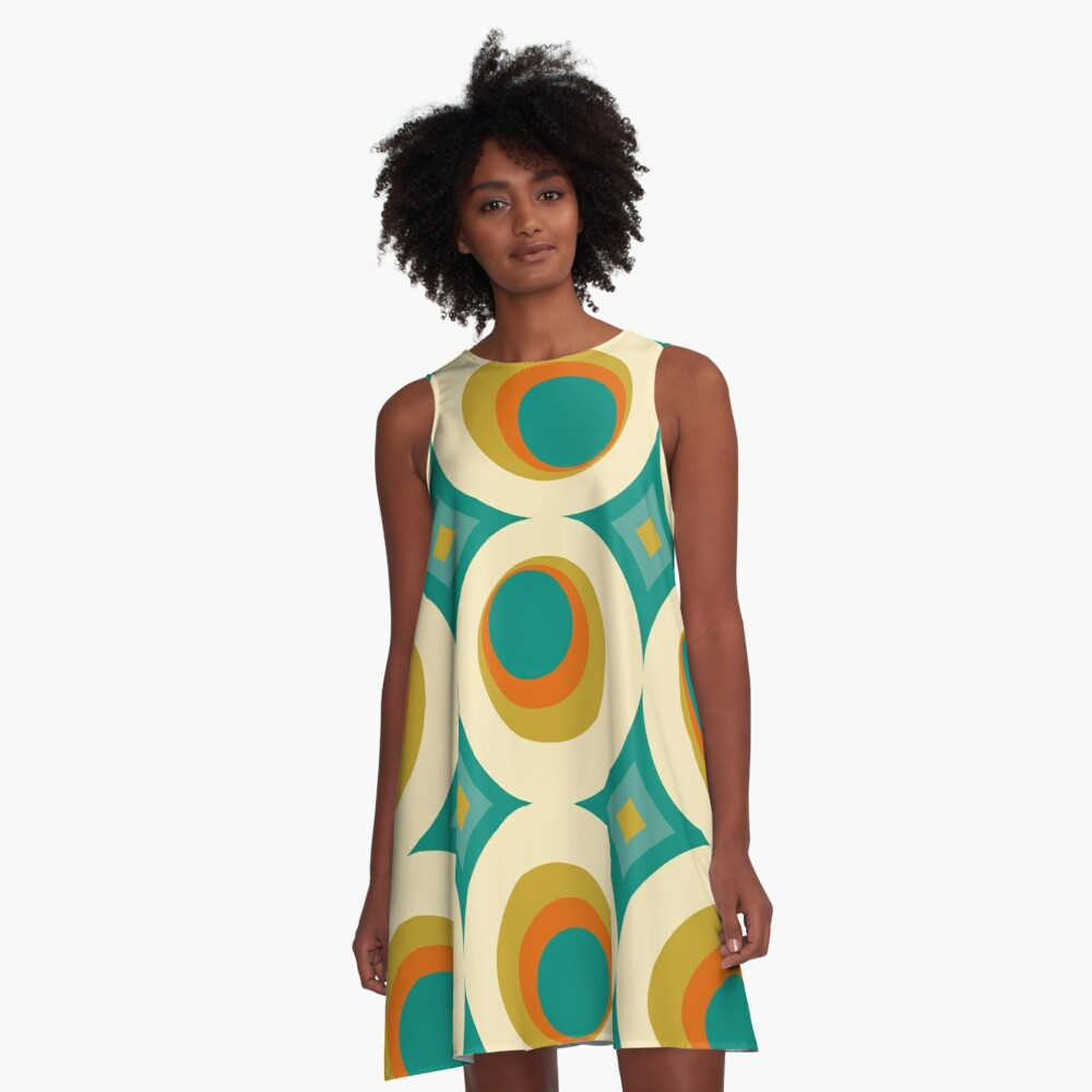 Mid-Century Modern Splash A-Line Dress