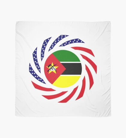 Mozambican American Multinational Patriot Flag Series Scarf