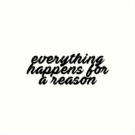 Everything Happens for a Reason by halfline