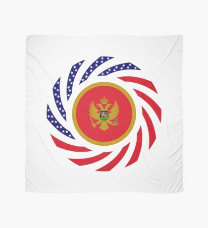 Montenegrin American Multinational Patriot Flag Series Scarf