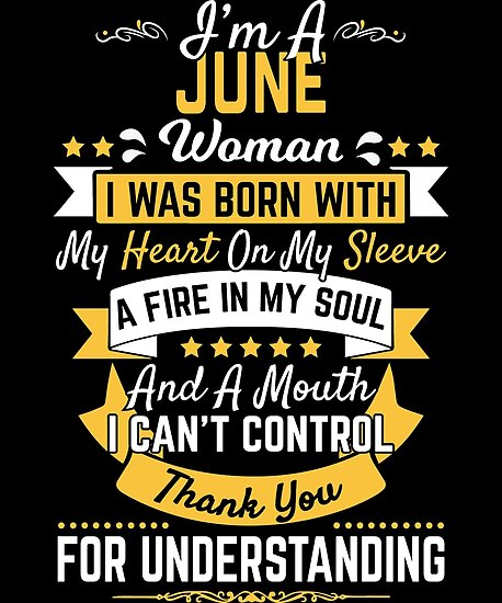 June Birthday Gift Woman Born Bday Present By Modernmerch