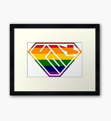 Folx SuperEmpowered (Rainbow) Framed Art Print