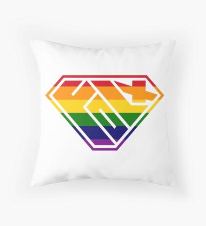 Folx SuperEmpowered (Rainbow) Throw Pillow