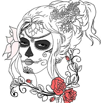 Rose Sugar Skull by NicholiCosplay