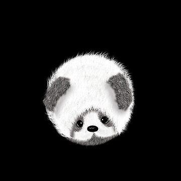 Cute Baby Panda Tshirt by yasminafs