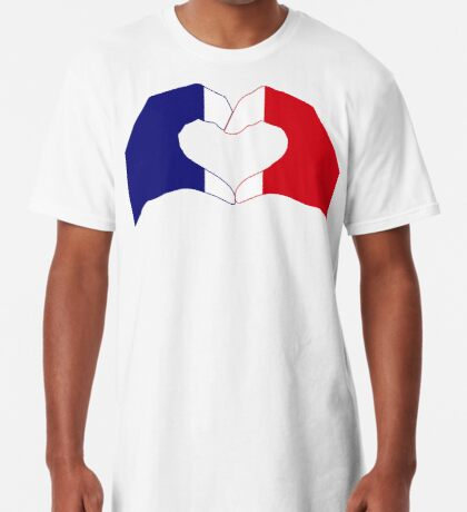 We Heart France Patriot Series Long T-Shirt