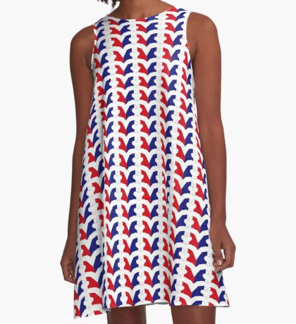 We Heart France Patriot Series A-Line Dress