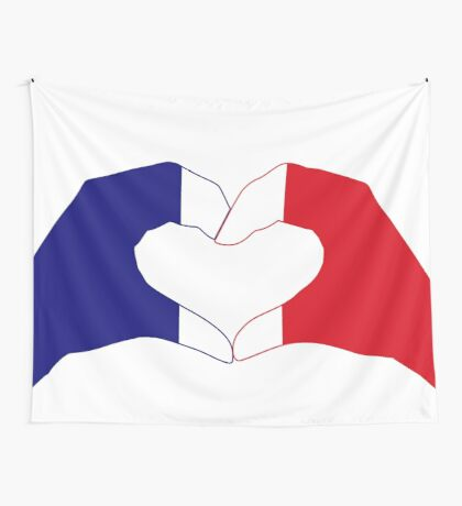 We Heart France Patriot Series Wall Tapestry