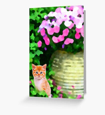 Bidding Adieu to April~ Greeting Card