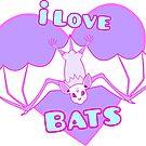 I Love Bats - Purple Version by GlitterandDecay