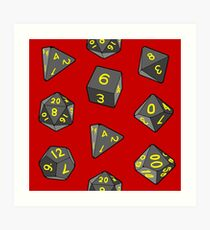Red Gaming Dice Art Print