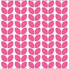 leaves - hot pink by beverlylefevre