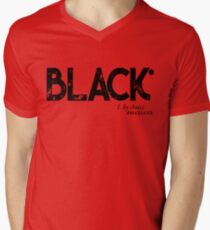 BLACK by Choice (black text) Men's V-Neck T-Shirt