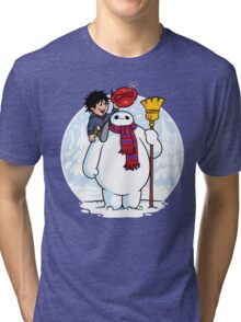Inflatable Snowman Tri-blend T-Shirt