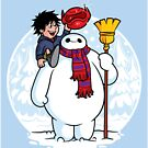 Inflatable Snowman (STICKER) by mikehandyart