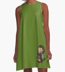 sibling trio - younger A-Line Dress
