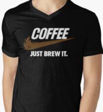 Just Brew It Mens V-Neck T-Shirt