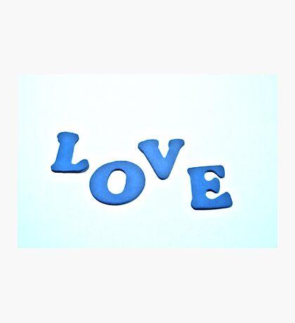 Big Blue Love Photographic Print