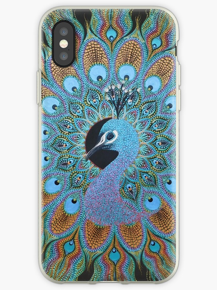 'Peacock Dot Mandala' iPhone Case by Kaila Lance
