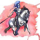 Bold Hero in Watercolor by RavensLanding