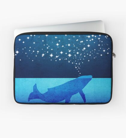 Whale Spouting Stars at Night Laptop Sleeve