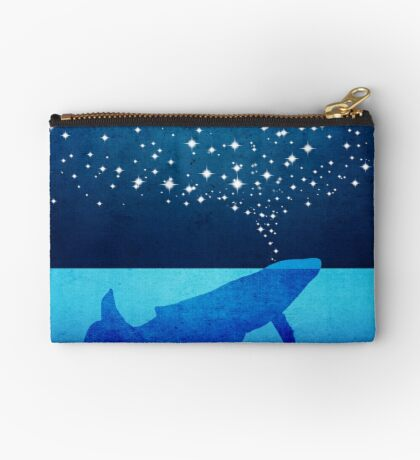 Whale Spouting Stars at Night Studio Pouch