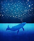 Whale Spouting Stars at Night by jitterfly