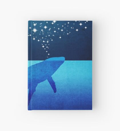Whale Spouting Stars at Night Hardcover Journal