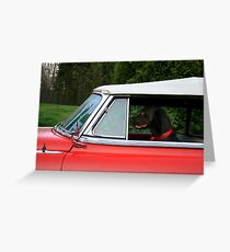 DOG GONE DRIVER Greeting Card