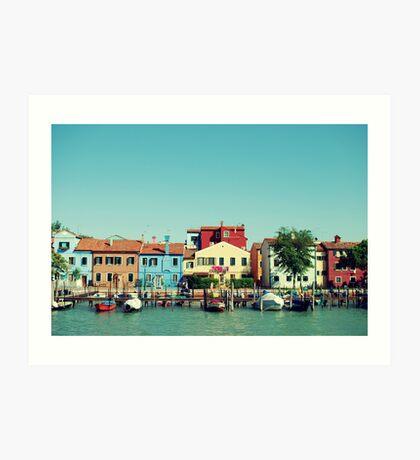 Burano, der Schöne Kunstdruck