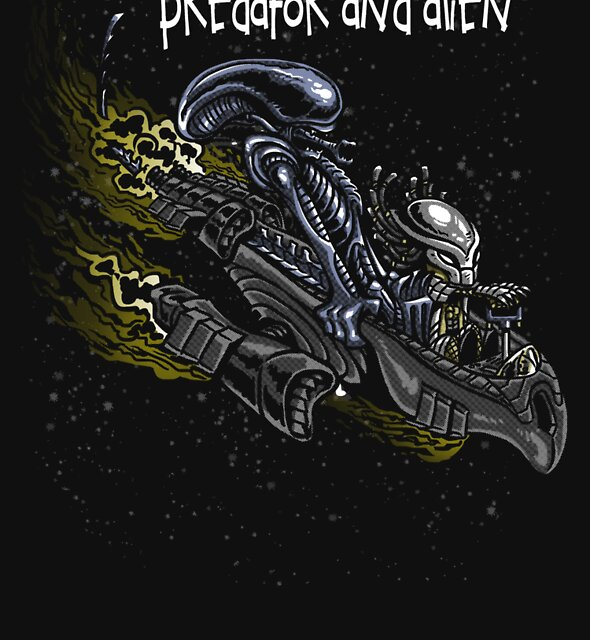 Predator and Alien by Punksthetic