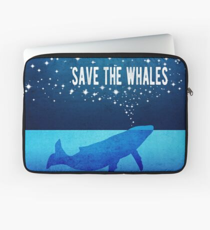 Save the Whales - Star Spouting Whale Laptop Sleeve