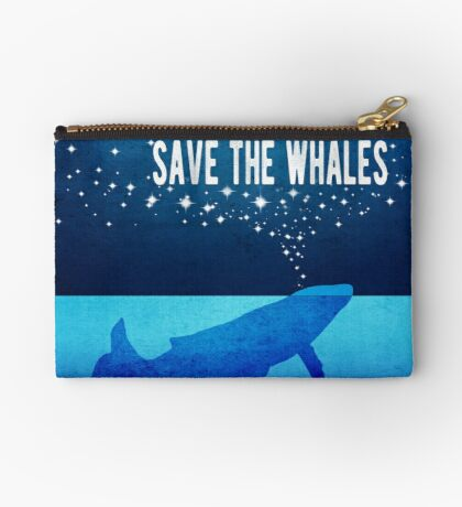 Save the Whales - Star Spouting Whale Studio Pouch