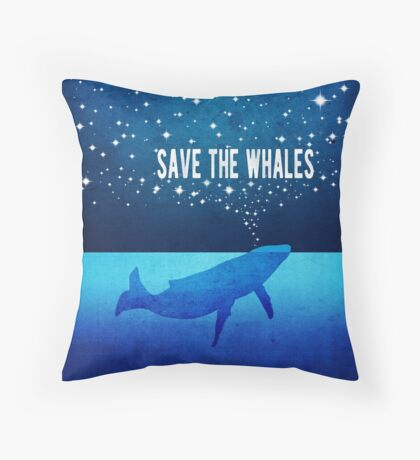 Save the Whales - Star Spouting Whale Floor Pillow