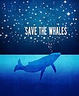 Save the Whales - Star Spouting Whale by jitterfly