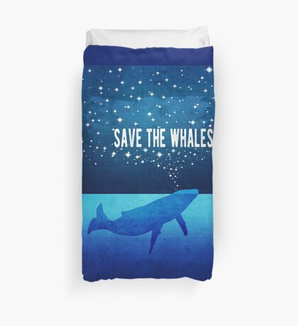 Save the Whales - Star Spouting Whale Duvet Cover