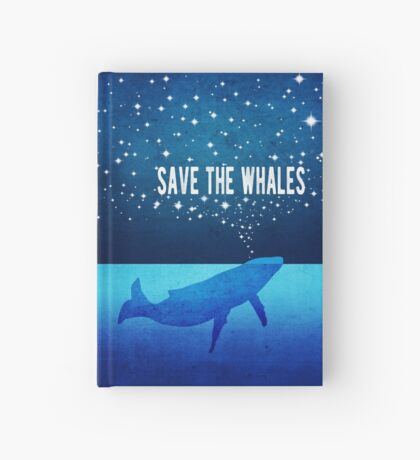 Save the Whales - Star Spouting Whale Hardcover Journal