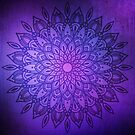Dark Mandala in Purple, Pink and Navy by Kelly Dietrich