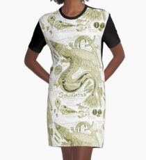 Egertron Puck's Snallygaster Anatomy Illustration Graphic T-Shirt Dress