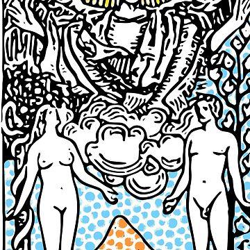 Modern Tarot Design - 6 The Lovers by annaleebeer